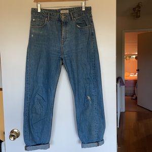 Zara high rise mom jeans blue size US 6